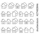 houses icons set  real estate ... | Shutterstock .eps vector #427483846