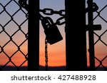 The Chain Clinging On The Fence ...