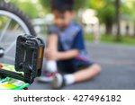 blur  boy with a bleeding... | Shutterstock . vector #427496182