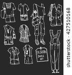 fashion clothes set. autumn ... | Shutterstock .eps vector #427510168