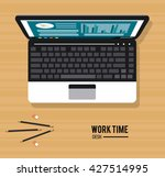 work time design. office icon.... | Shutterstock .eps vector #427514995