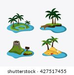 beach design. summer icon.... | Shutterstock .eps vector #427517455