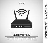 wifi modem icon. wifi modem... | Shutterstock .eps vector #427526326
