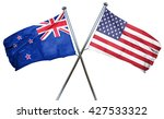 new zealand flag with american... | Shutterstock . vector #427533322