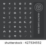 healthy care icon set design... | Shutterstock .eps vector #427534552