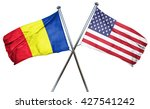 romania flag with american flag ...   Shutterstock . vector #427541242