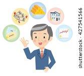 senior man of the financial...   Shutterstock .eps vector #427541566