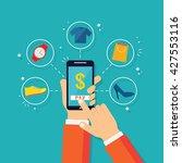 online payment | Shutterstock .eps vector #427553116