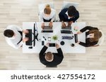 high angle view of... | Shutterstock . vector #427554172