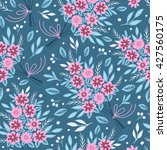 seamless pattern with flowers.... | Shutterstock .eps vector #427560175