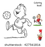 Cartoon Football Player For...