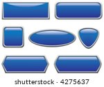 blue buttons  2  | Shutterstock .eps vector #4275637