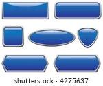blue buttons  2  | Shutterstock .eps vector #4275637