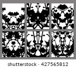 abstract symmetrical black... | Shutterstock .eps vector #427565812