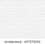 Gray Hexagon Grid On White ...