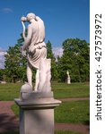 Small photo of Gatchina Palace. Sculpture in the Dutch garden. Allegory - Amazon with onions.