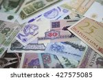 close up of international bank... | Shutterstock . vector #427575085