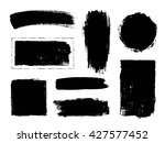 set of hand drawn brushes and... | Shutterstock .eps vector #427577452