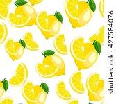 Pattern. Lemon And Halved...