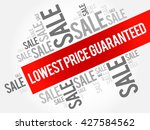 lowest price guaranteed words... | Shutterstock .eps vector #427584562