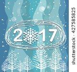 happy new year 2017 | Shutterstock . vector #427585825