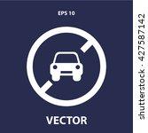 no car icon. car forbidden... | Shutterstock .eps vector #427587142