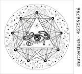 sacred geometry symbol.... | Shutterstock .eps vector #427596796