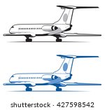 airplane is landing and take... | Shutterstock .eps vector #427598542