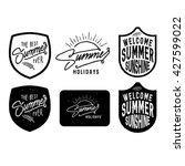 vector set of summer quotes ... | Shutterstock .eps vector #427599022