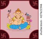 ganesha the lord of wisdom... | Shutterstock .eps vector #427621546
