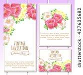 vintage delicate invitation... | Shutterstock . vector #427635682