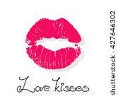 beautiful tender vector lip...   Shutterstock .eps vector #427646302