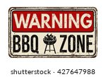 warning bbq barbecue zone... | Shutterstock .eps vector #427647988