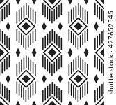 black and white ethnic... | Shutterstock .eps vector #427652545