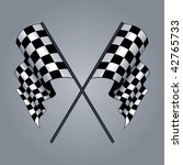 checkered flag vector drawing   Shutterstock .eps vector #42765733