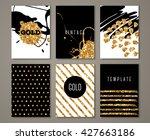 set of brochures with hand...   Shutterstock .eps vector #427663186