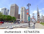 detroit  circa may 2016. many... | Shutterstock . vector #427665256