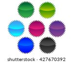 empty badge  vector blue badge  ... | Shutterstock .eps vector #427670392