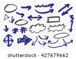 doodle infographic  elements... | Shutterstock .eps vector #427679662