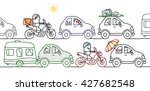 cartoon people in a summer... | Shutterstock .eps vector #427682548