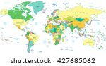 detailed political world map... | Shutterstock .eps vector #427685062