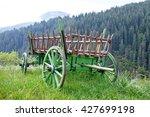 old wooden cart in village | Shutterstock . vector #427699198