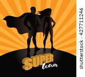 business team super heroes... | Shutterstock .eps vector #427711246