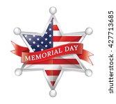 memorial day badge   Shutterstock .eps vector #427713685