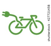 bicycle  ecology green icons... | Shutterstock .eps vector #427721458