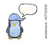 freehand speech bubble textured ... | Shutterstock .eps vector #427722535