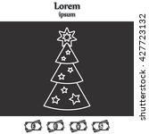 fir tree vector line icon. | Shutterstock .eps vector #427723132