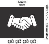 handshake icon  | Shutterstock .eps vector #427724386