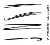 underline set  brush line set | Shutterstock .eps vector #427731256