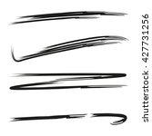 underline set  brush line set | Shutterstock .eps vector #427731256
